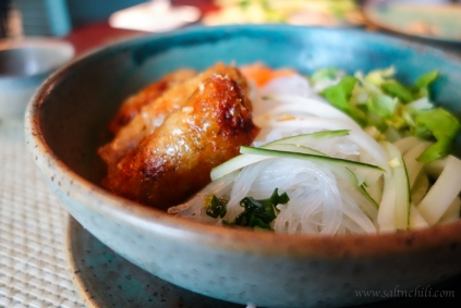 Bun Vermicelli with Spring Rolls