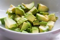 Chopped avocados