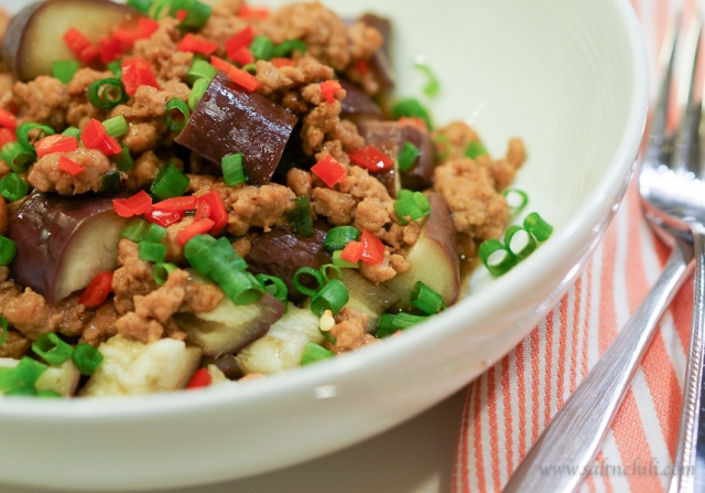 Steamed Eggplant with Minced Pork