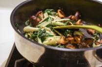 Stir-fry bok choy & shiitake