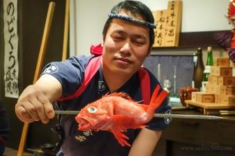Inakaya Robatayaki Kinki Fish Prepare