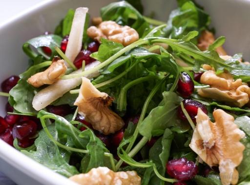 Pomegranate Pear Walnut Salad