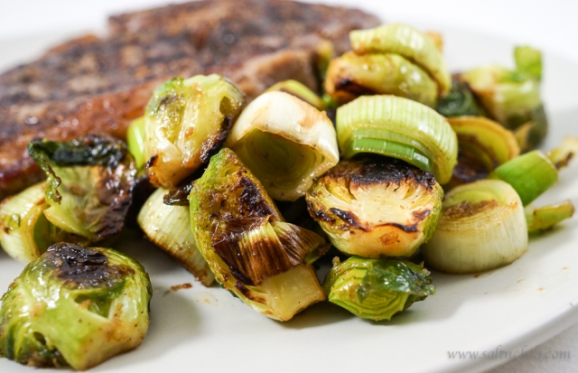 Brussels sprouts and Leeks