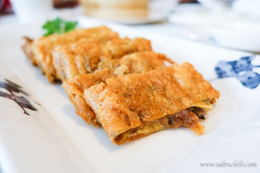 Bean Curd Sheet Wrapped Wild Mushroom