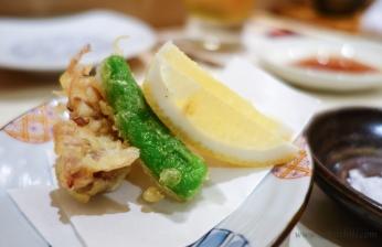 Sushi Fuku-Suke Hotaru Ika tempura
