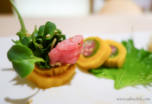 Sushi Fuku-Suke Takuan and Tuna Sushi