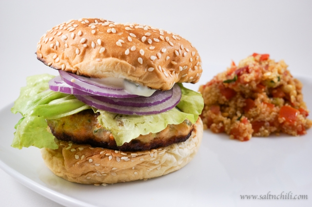 Secret Ingredient Salmon Burger