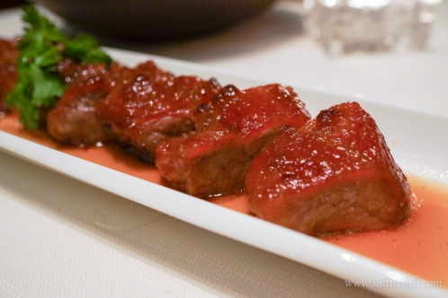 Tin Lung Heen barbecued Iberian Pork With Honey