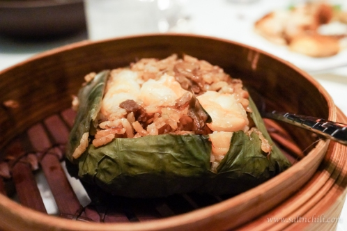 Tin Lung Heen Lotus Leaf Rice with Abalone