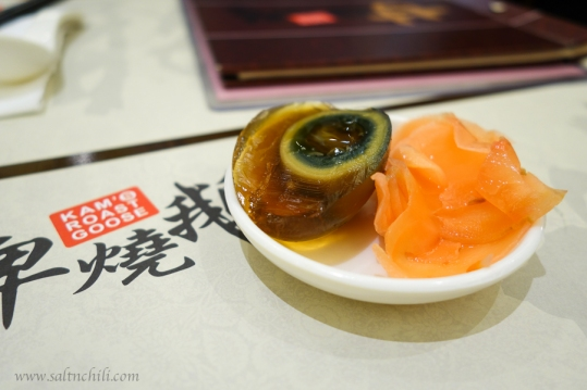 Preserved Egg and Pickled Ginger