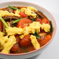 Cantonese Style Tomato Beef and Egg