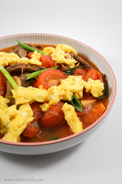 Cantonese Tomato Beef and Egg