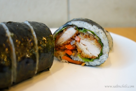 Pomato Rice Roll with Pork Sirloin Cutlet
