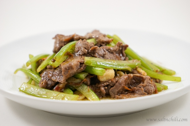 Stir-Fry Beef and Celery with XO Sauce