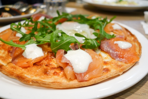 The Point Smoked Salmon Deluxe Pizza